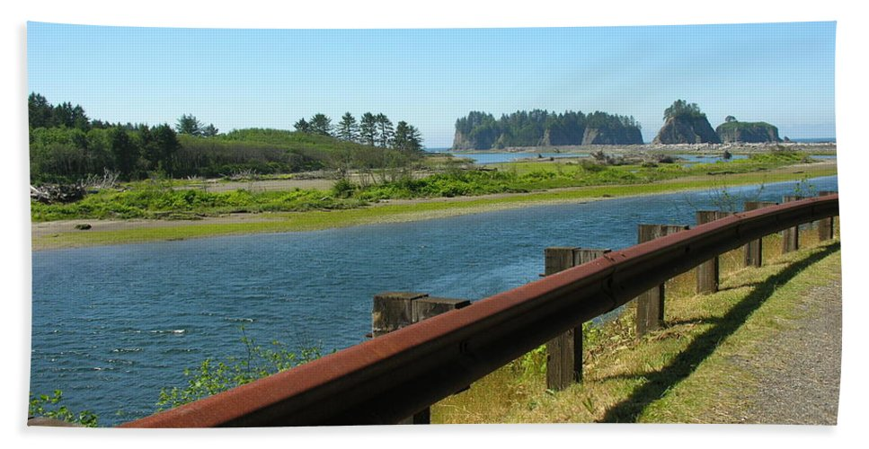 Washington Coast Bath Sheet featuring the photograph Washington Coast by Diane Greco-Lesser