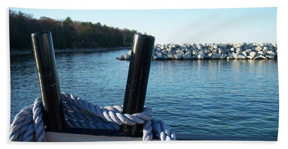 Washington Island Hand Towel featuring the photograph Washington Island 1 by Anita Burgermeister