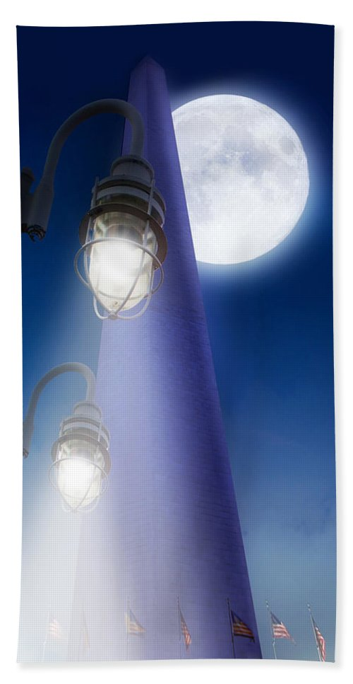 Wa Bath Sheet featuring the photograph Washington Monument by Gravityx9 Designs