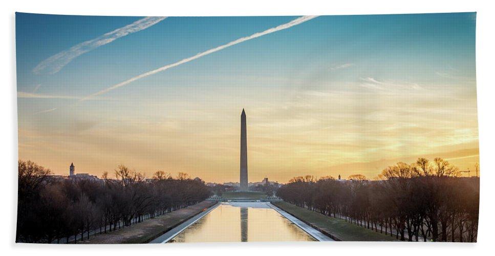 Usa Bath Sheet featuring the photograph Washington Sunrise by Framing Places