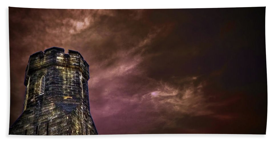 Tower Bath Sheet featuring the photograph Watchtower by Evelina Kremsdorf
