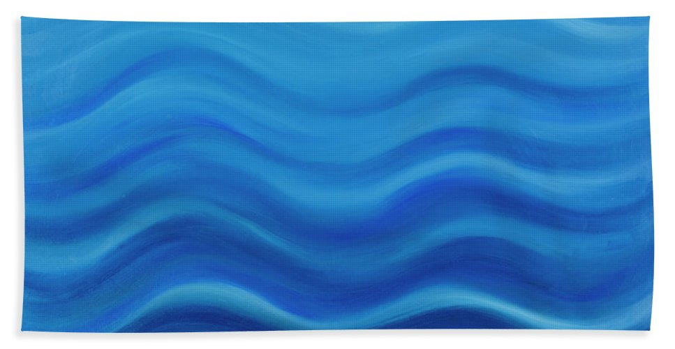 Water Bath Towel featuring the painting Water by Adamantini Feng shui