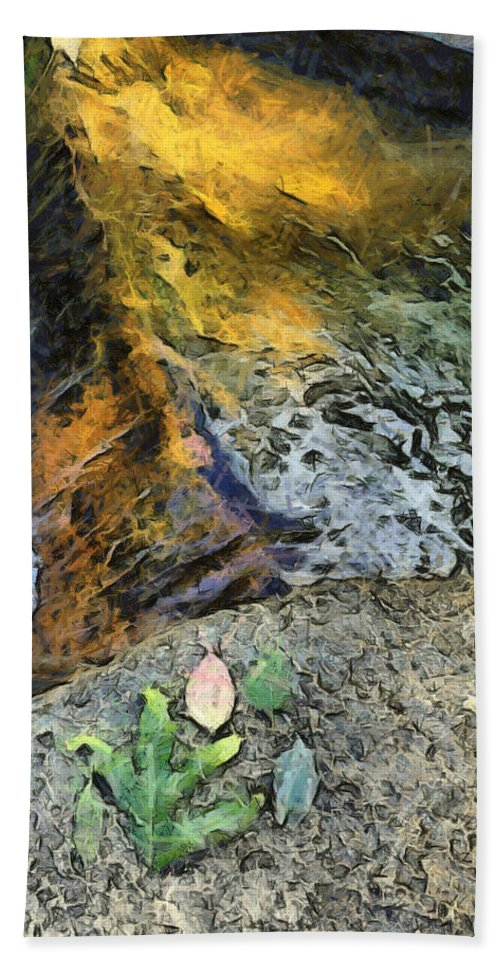 Water Stream Hand Towel featuring the photograph Water And Rock by Ashish Agarwal