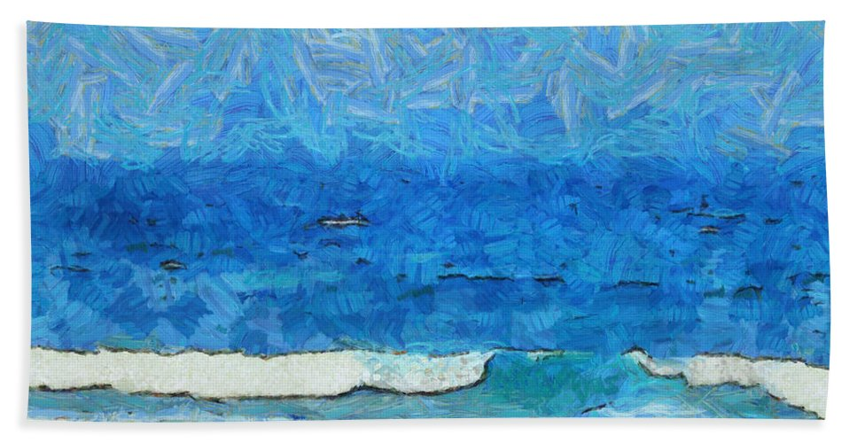 Blue Hand Towel featuring the photograph Water And Sky by Ashish Agarwal