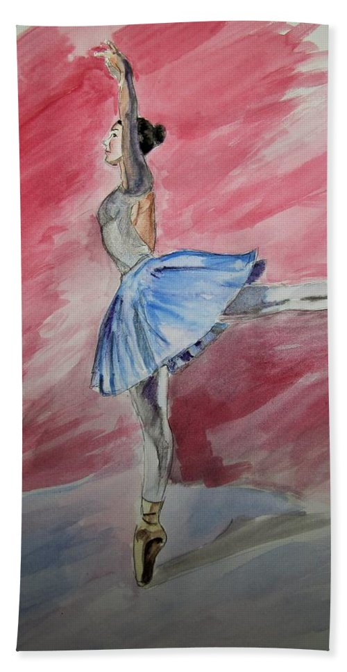 Dance Portrait Bath Sheet featuring the painting Water Ballerina by James Henderson