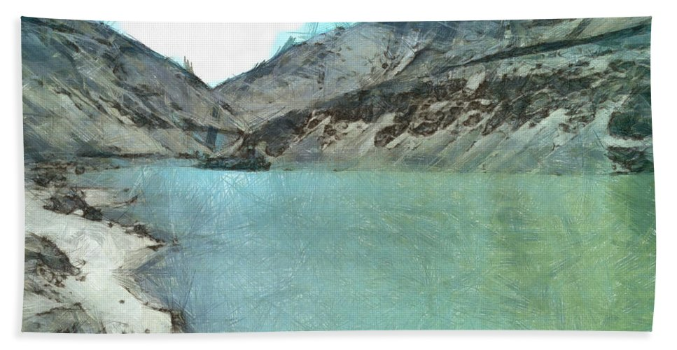 Lake Hand Towel featuring the photograph Water Body In The Himalayas by Ashish Agarwal