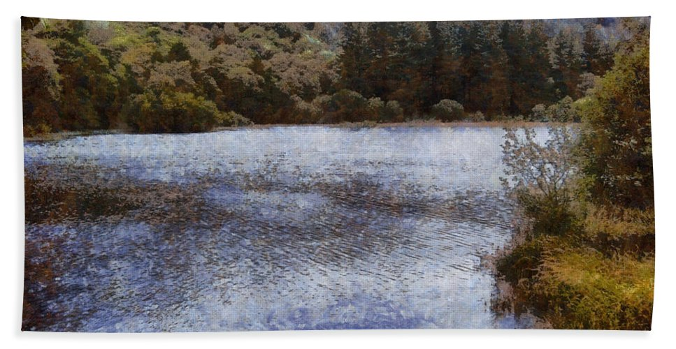 Forest Hand Towel featuring the photograph Water Body Surrounded By Greenery by Ashish Agarwal