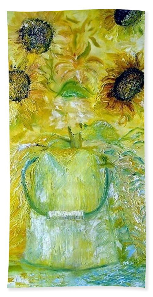Flower Hand Towel featuring the painting Water Can by Jack Diamond