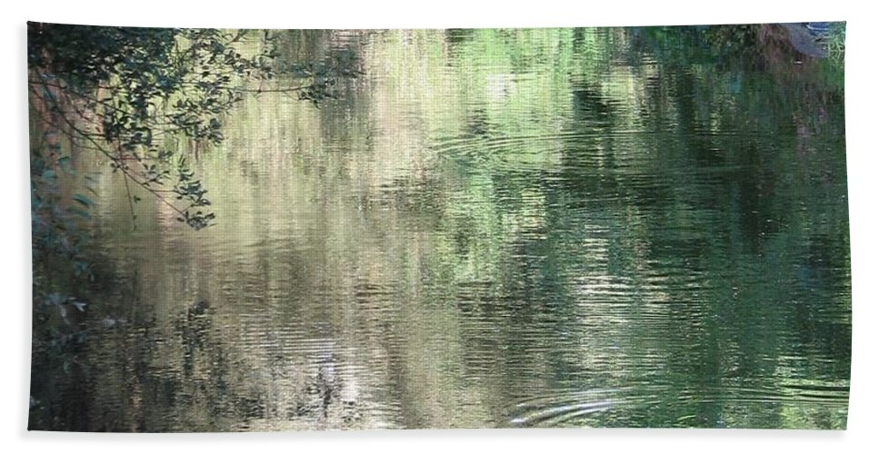 Reflection Bath Sheet featuring the photograph Water Color by Kelly Mezzapelle