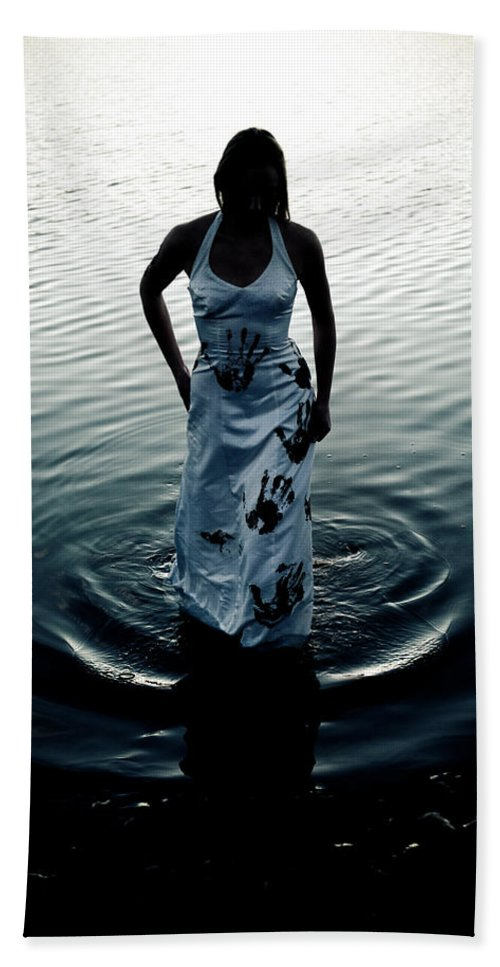 Hand Prints Hand Towel featuring the photograph Water Dress by Scott Sawyer