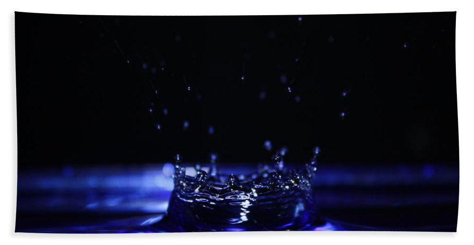 Photography Bath Sheet featuring the photograph Water Drop by Alexander Butler