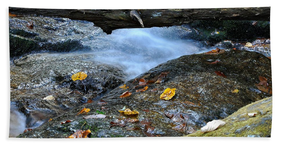 Water Falls Hand Towel featuring the photograph Water Falls by Todd Hostetter