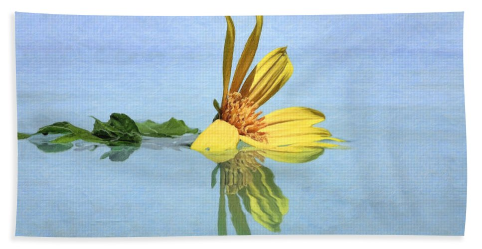 Sunflower Hand Towel featuring the photograph Water Flower by Nadia Sanowar