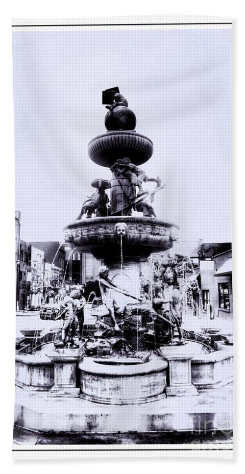Water Hand Towel featuring the photograph Water Fountain by Kathleen Struckle