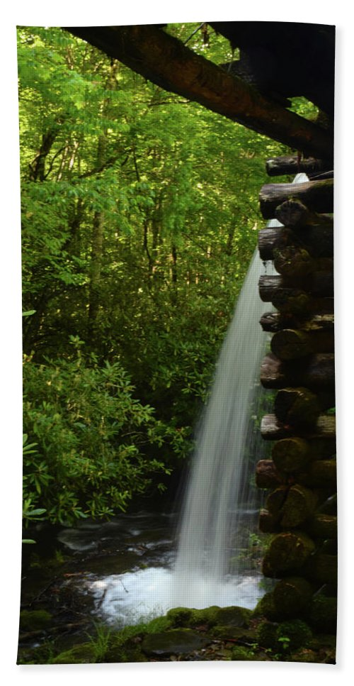 Landscape Bath Towel featuring the photograph Water From The Flume by Pat Turner