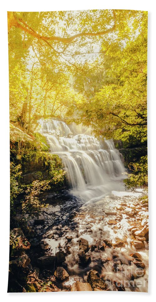 Fall Bath Towel featuring the photograph Water In Fall by Jorgo Photography - Wall Art Gallery