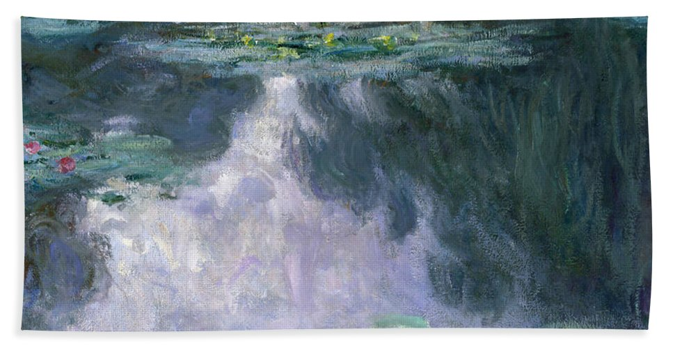 Water Lilies Bath Sheet featuring the painting Water Lilies, Nympheas, 1907 by Claude Monet