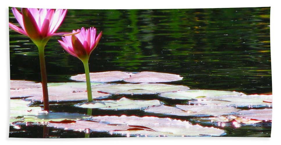 Patzer Bath Towel featuring the photograph Water Lily by Greg Patzer