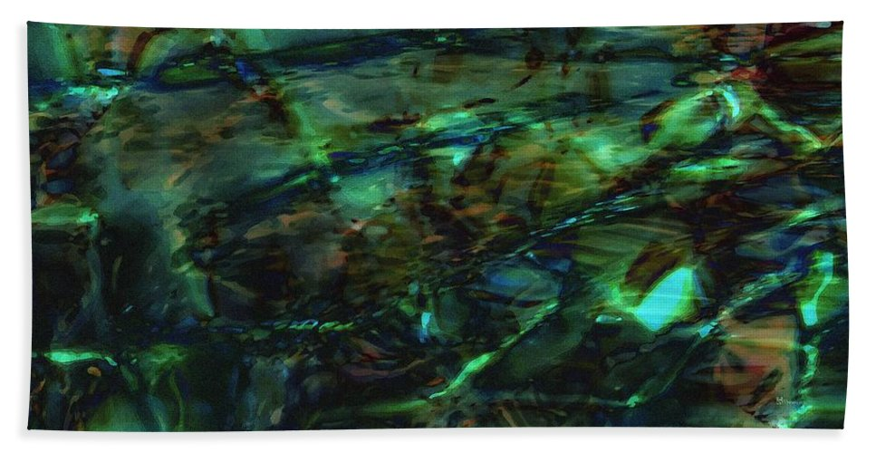 Abstraction Hand Towel featuring the digital art Water Play by Max Steinwald