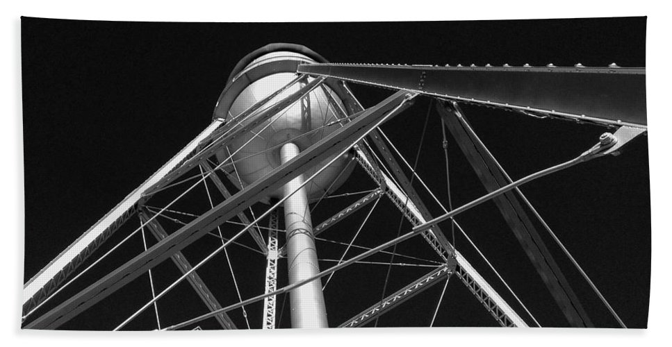 Architecture Hand Towel featuring the photograph Water Tower by Dick Goodman