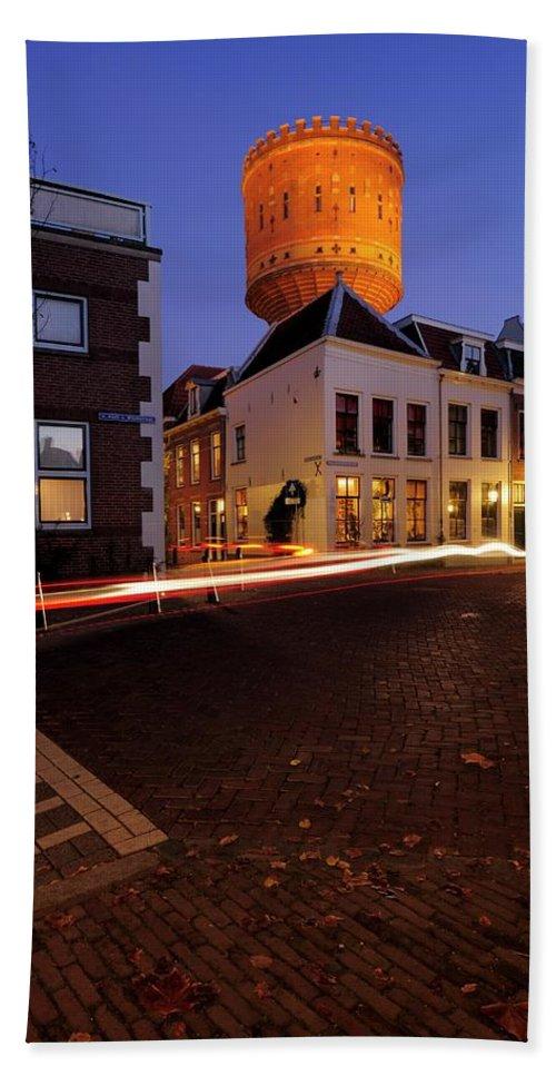 Water Tower Hand Towel featuring the photograph Water Tower Lauwerhof In Utrecht 25 by Merijn Van der Vliet