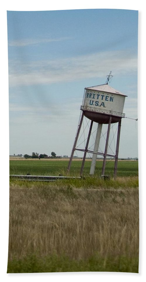 Water Hand Towel featuring the photograph Water Tower by Steven Natanson