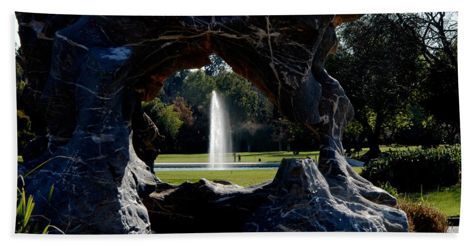 Clay Hand Towel featuring the photograph Water View by Clayton Bruster