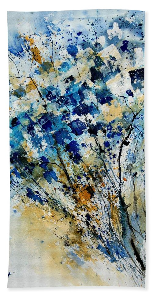Flowers Bath Towel featuring the painting Watercolor 907003 by Pol Ledent