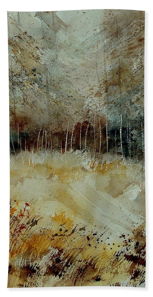 Tree Bath Sheet featuring the painting Watercolor 9090722 by Pol Ledent