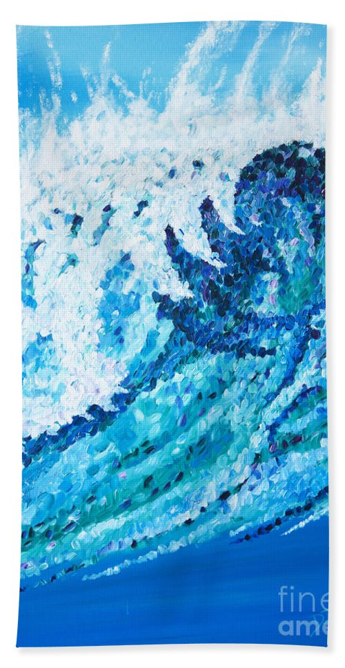 Ocean Bath Towel featuring the painting Watercolor by JoAnn DePolo