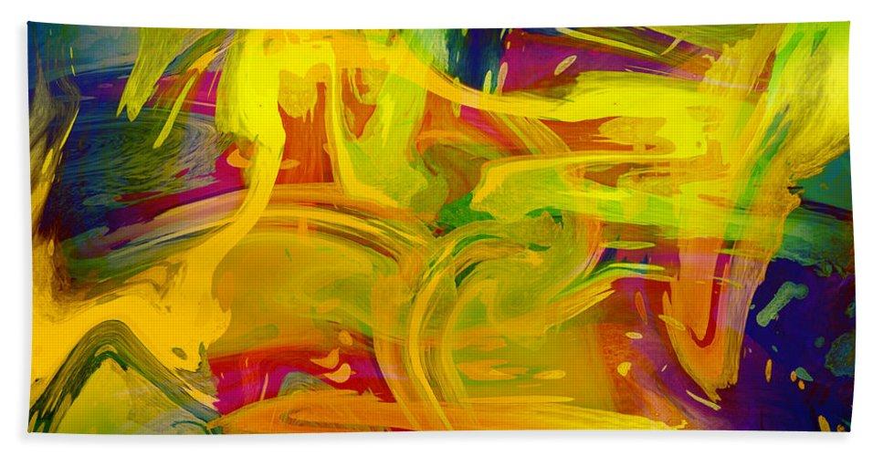 Texture Bath Sheet featuring the digital art Watercolour Abstract by Svetlana Sewell