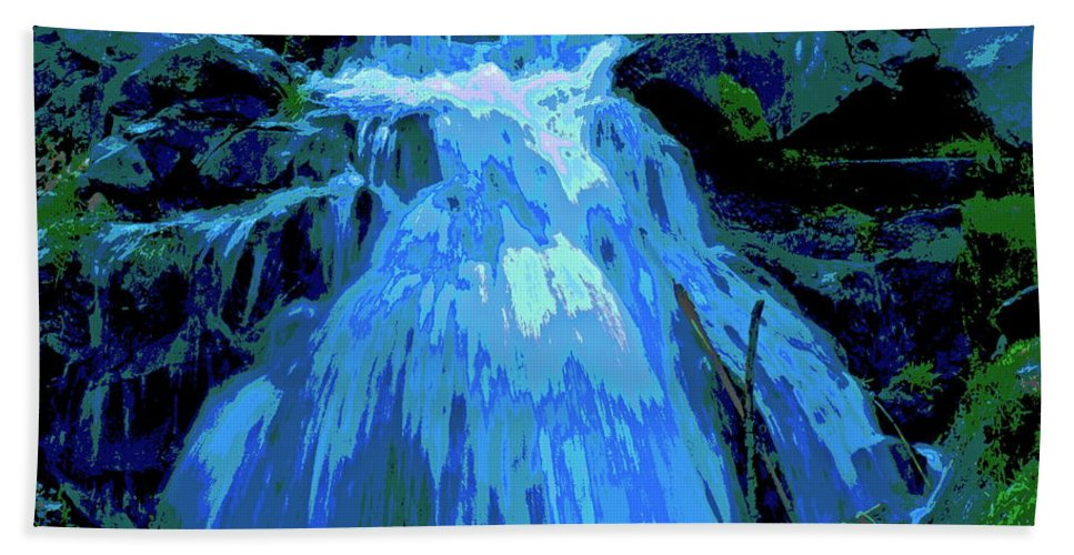 Photo Art Hand Towel featuring the photograph Waterfall At Finch 2 by Ben Upham III