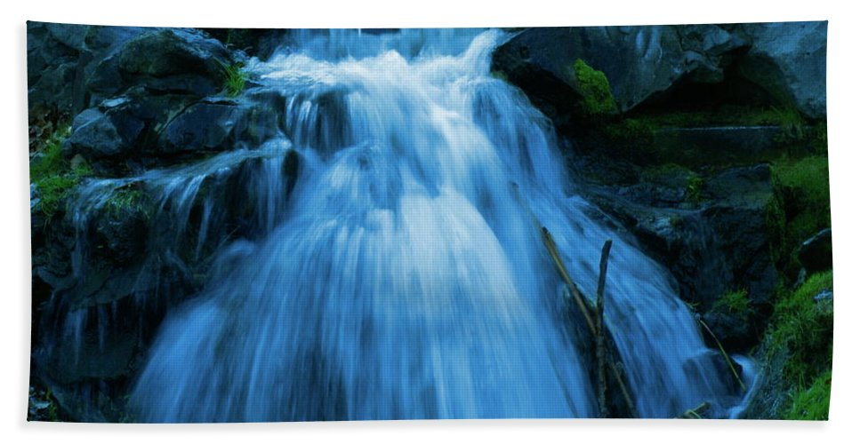 Photo Art Hand Towel featuring the photograph Waterfall At Finch Arboretum by Ben Upham III