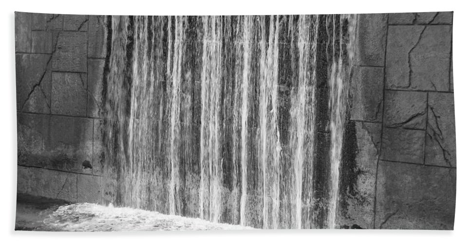 Art Hand Towel featuring the photograph Waterfall Backdrop by Michelle Powell