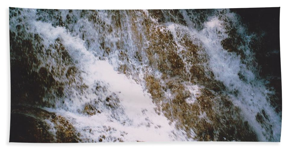 Water Hand Towel featuring the photograph Waterfall by Michelle Powell