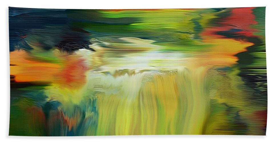 River Hand Towel featuring the digital art Waterfall On The Krka River by Dragica Micki Fortuna