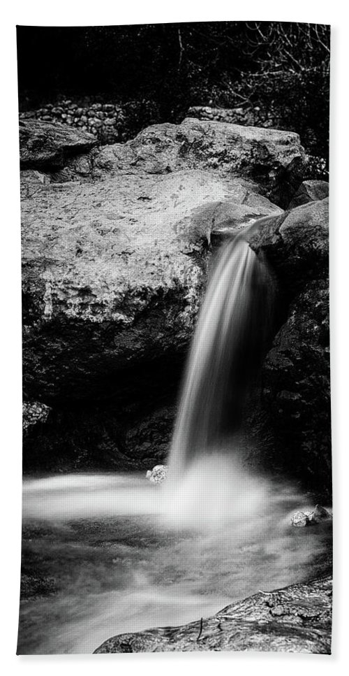 Waterfall Hand Towel featuring the photograph Waterfall by Yigal Hachmon
