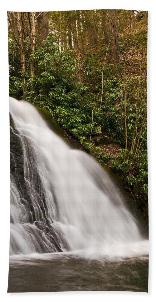 Waterfall Hand Towel featuring the photograph Waterfall04 by Svetlana Sewell