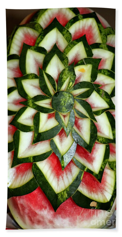 Watermelon Bath Sheet featuring the photograph Watermelon Art by Teresa Zieba