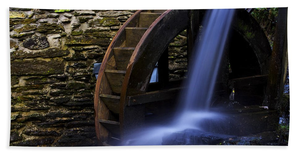 Water Hand Towel featuring the photograph Watermill Wheel by Ivan Slosar
