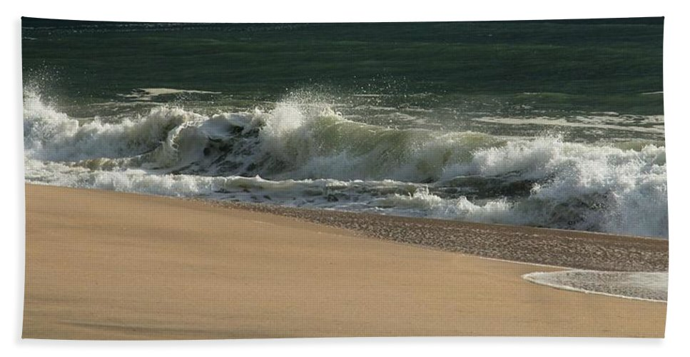 Jersey Shore Hand Towel featuring the photograph Wave Of Light - Jersey Shore by Angie Tirado