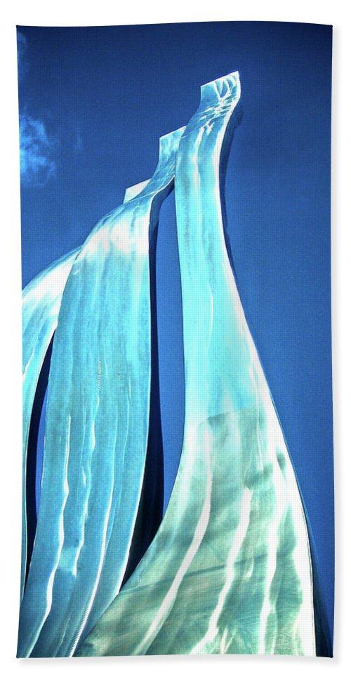 Wave Bath Sheet featuring the photograph Wave Of Weiden by Juergen Weiss
