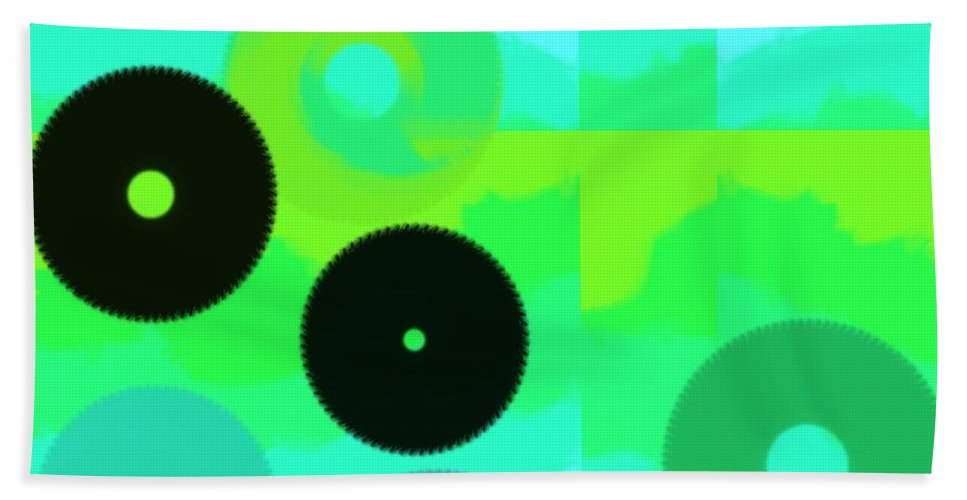 Abstract Hand Towel featuring the digital art Wave by Yilmar Henry