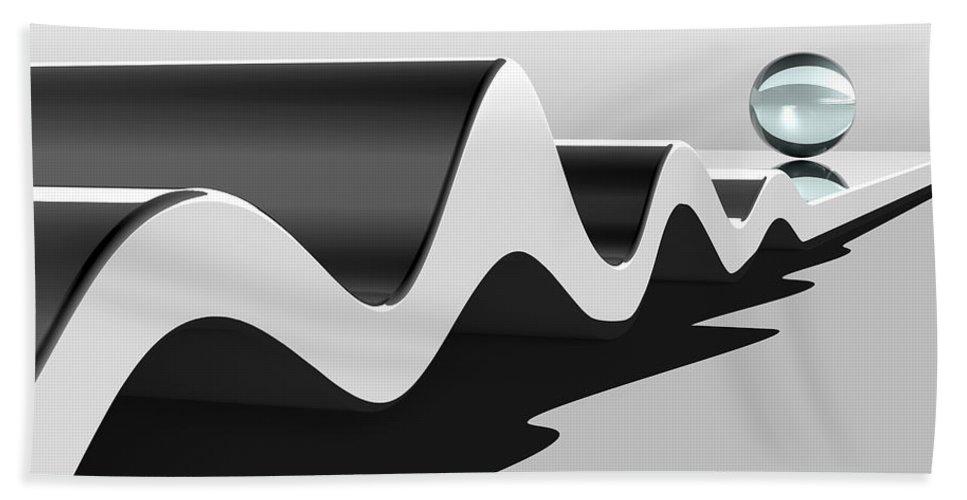 Wavelength Bath Sheet featuring the digital art Wavelength by Richard Rizzo