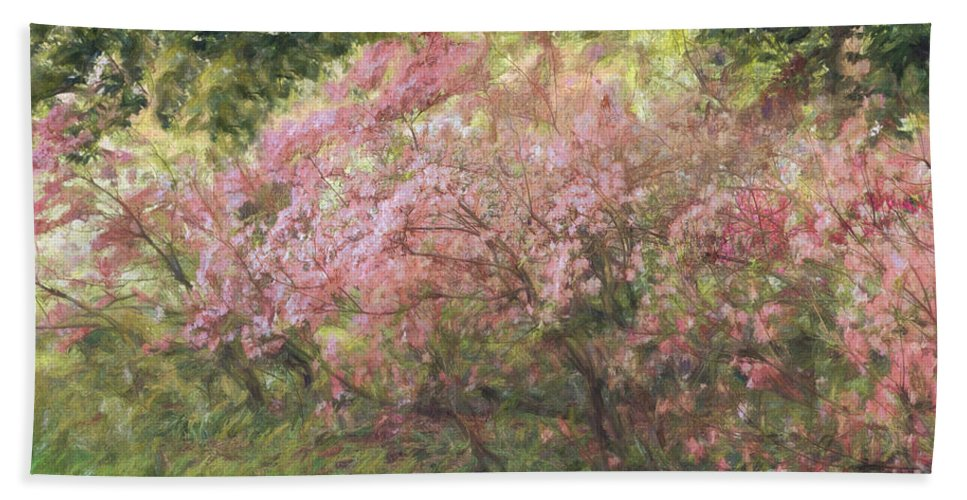 Gardens Hand Towel featuring the photograph Waves Of Spring by Marilyn Cornwell