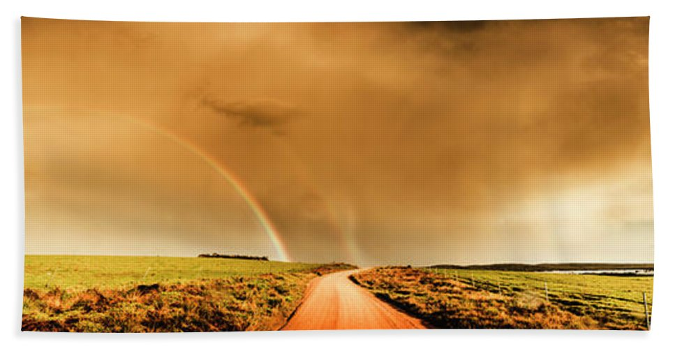 Outback Hand Towel featuring the photograph Way Outback by Jorgo Photography - Wall Art Gallery