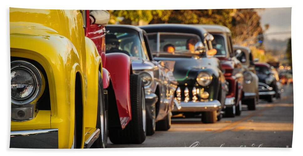 34 Th Annual Westcoast Kustoms Cruising Nationals Bath Sheet featuring the photograph Wck Fun Times by Customikes Fun Photography and Film Aka K Mikael Wallin