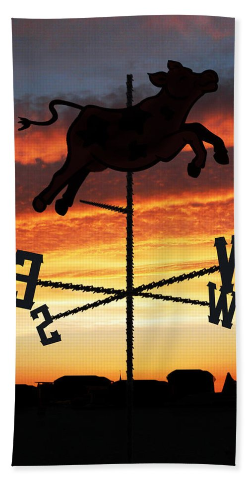 Sunrise Bath Sheet featuring the digital art Weather Vane by Gravityx9 Designs