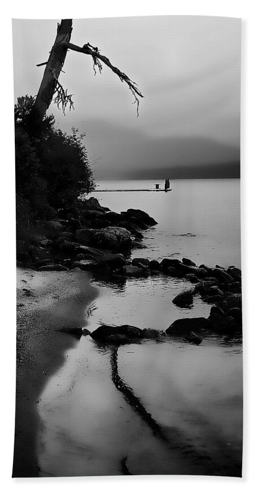 Boathouse Hand Towel featuring the photograph Weathered by David Patterson