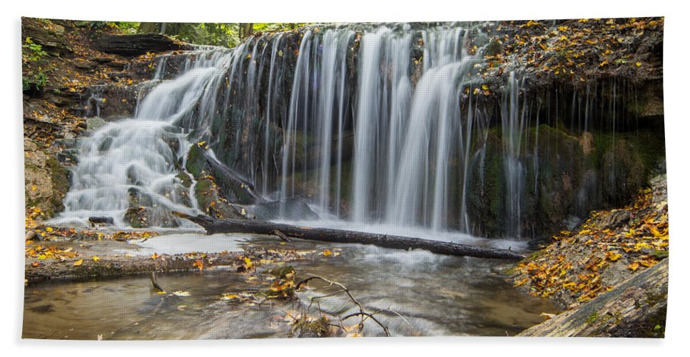 Landscape Hand Towel featuring the photograph Weaver's Creek Falls by Richard Kitchen